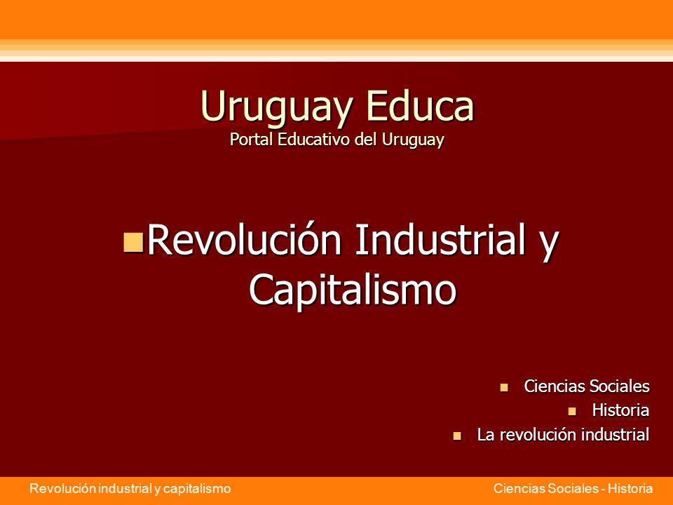 Revolución industrial y capitalismo Ciencias Sociales - Historia Fuentes utilizadas para esta presentación http://www.cnice.mecd.es/eos/MaterialesEducativos/bachillerato/hist oria/rev_industrial/cambiosociales.htmhttp://www.cnice.mecd.es/eos/MaterialesEducativos/bachillerato/hist oria/rev_industrial/cambiosociales.htm Arteaga Tiscareño, Antonio: Historia 2, Editorial Santillana, México, 1997.
