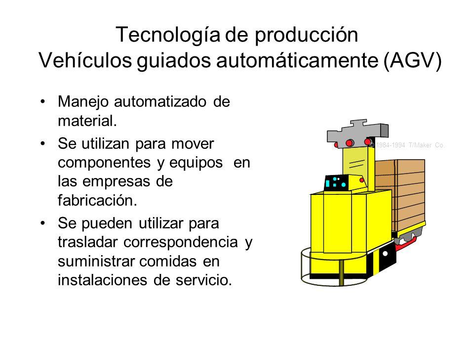 Manejo automatizado de material. Se utilizan para mover componentes y equipos en las empresas de fabricación. Se pueden utilizar para trasladar corres