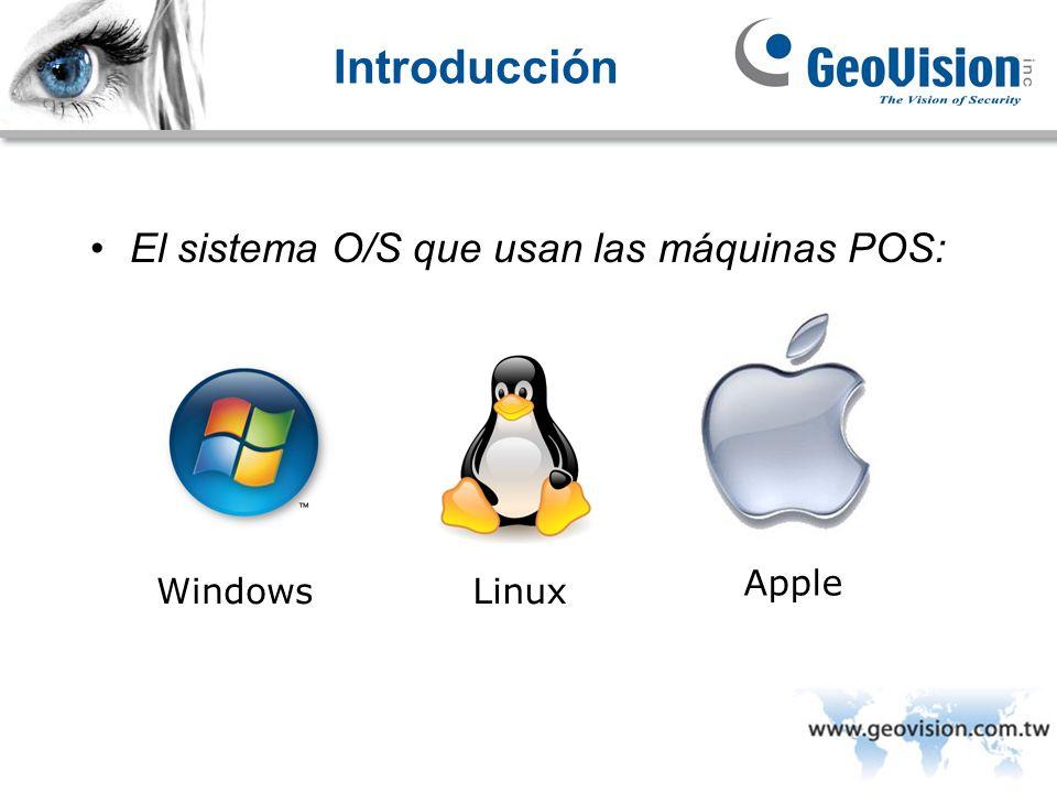 Introducción El sistema O/S que usan las máquinas POS: WindowsLinux Apple