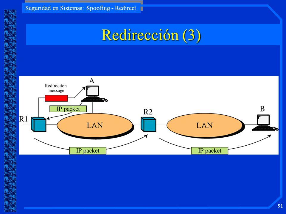 Seguridad en Sistemas: Spoofing - Redirect 51 Redirección (3)