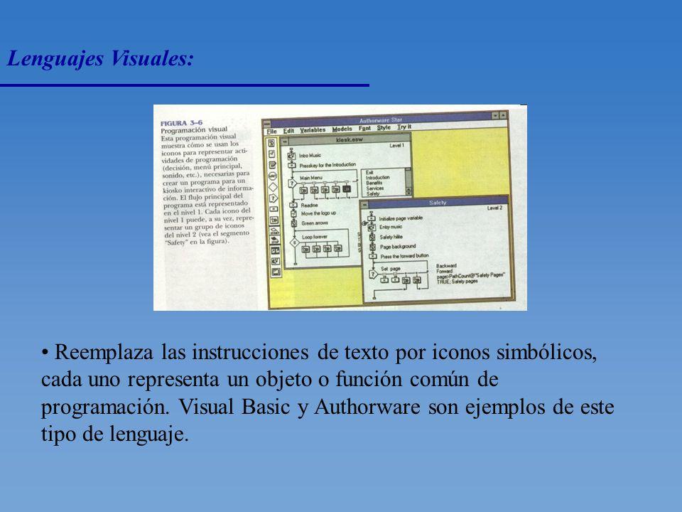 Lenguajes de Cuarta Generación: Estos lenguajes usan instrucciones de Alto Nivel, parecidas al Inglés, para recuperar y darle formato a los datos de c