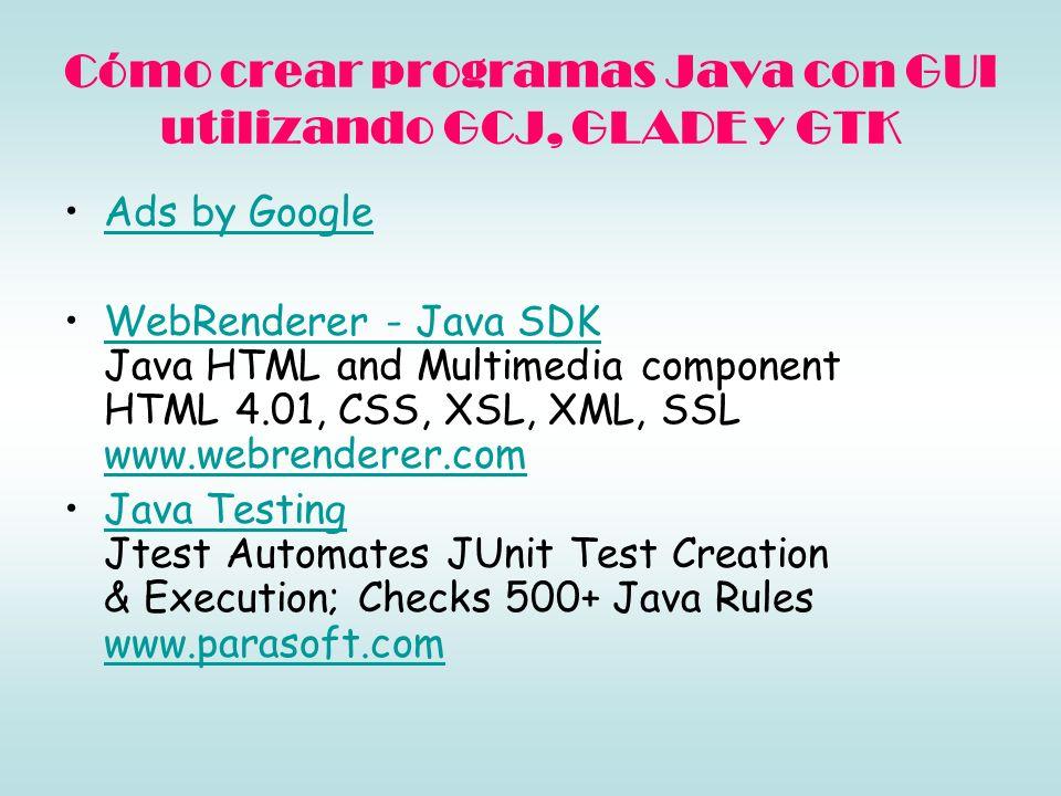 En este artículo se explicará cómo crear programas Java con interfaz gráfica (GUI) utilizando solamente software libre.