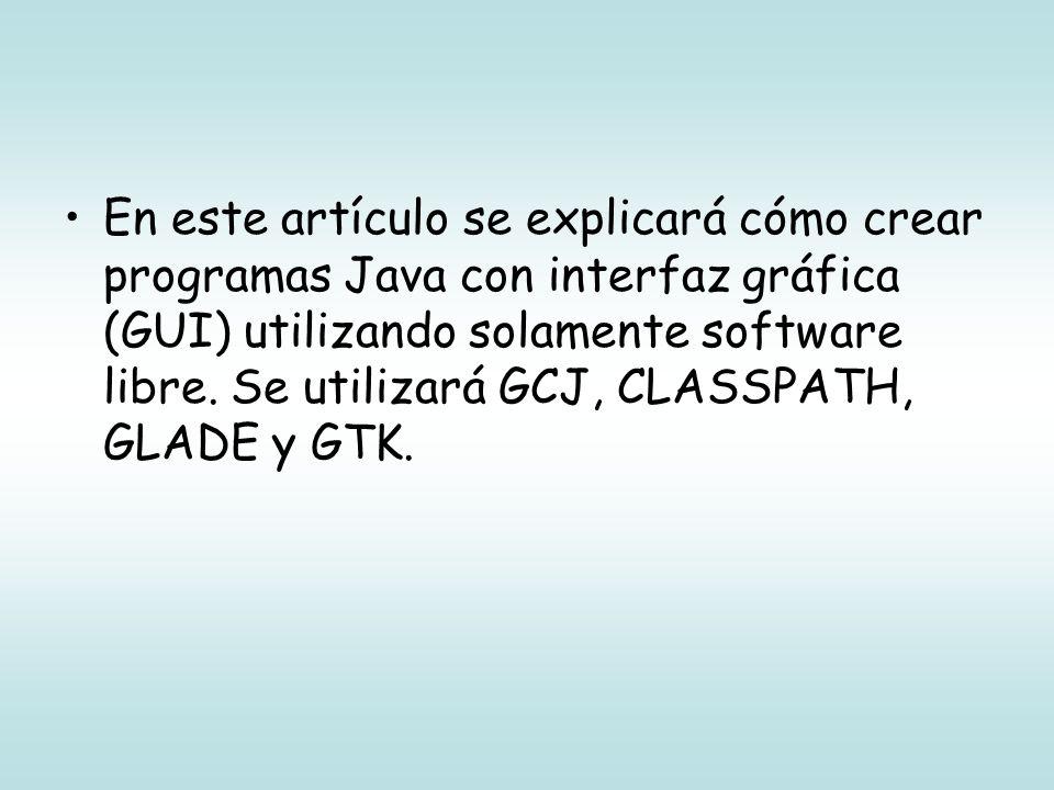 Conceptos básicos Java: Lenguaje de programación Compilador java: Compila el código fuente java y genera un bytecode Bytecode: código intermedio que puede ser interpretado (casi) en cualquier máquina virtual Java Máquina virtual Java: Interpreta el bytecode Java Existen varias máquinas virtuales de Java: Sun, IBM, GNU.