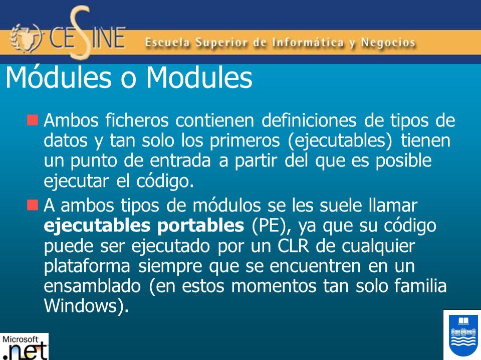 Módules o Modules Ambos ficheros contienen definiciones de tipos de datos y tan solo los primeros (ejecutables) tienen un punto de entrada a partir de