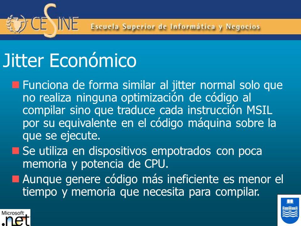 Jitter Económico Funciona de forma similar al jitter normal solo que no realiza ninguna optimización de código al compilar sino que traduce cada instr