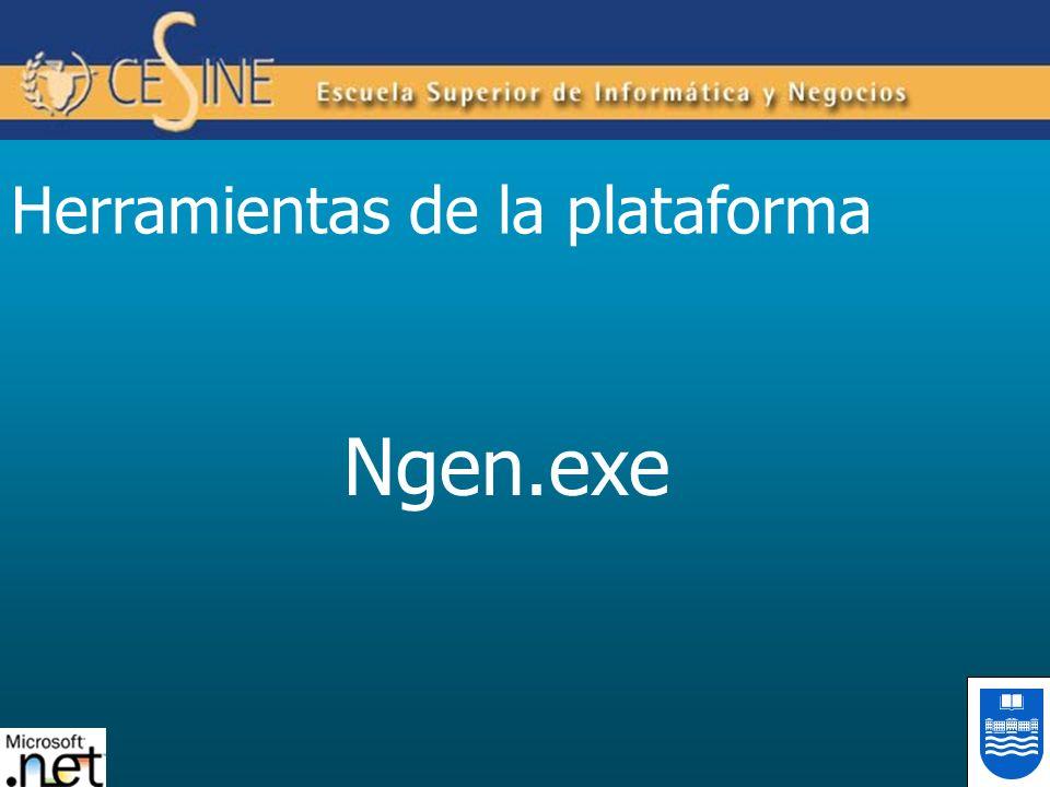 Herramientas de la plataforma Ngen.exe
