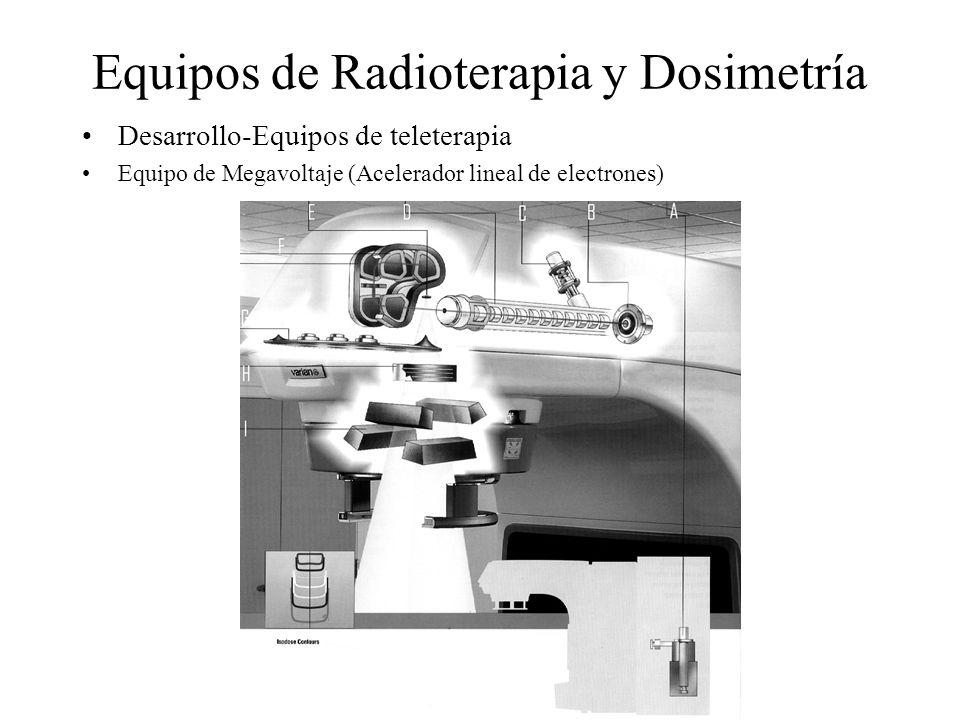 Equipos de Radioterapia y Dosimetría Desarrollo-Equipos de teleterapia Equipo de Megavoltaje (Acelerador lineal de electrones)