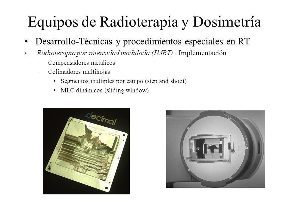 Equipos de Radioterapia y Dosimetría Desarrollo-Técnicas y procedimientos especiales en RT Radioterapia por intensidad modulada (IMRT). Implementación