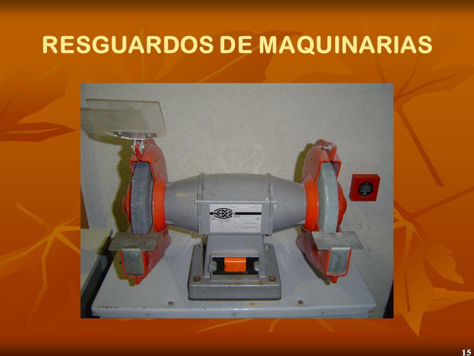 16 RESGUARDOS DE MAQUINARIAS