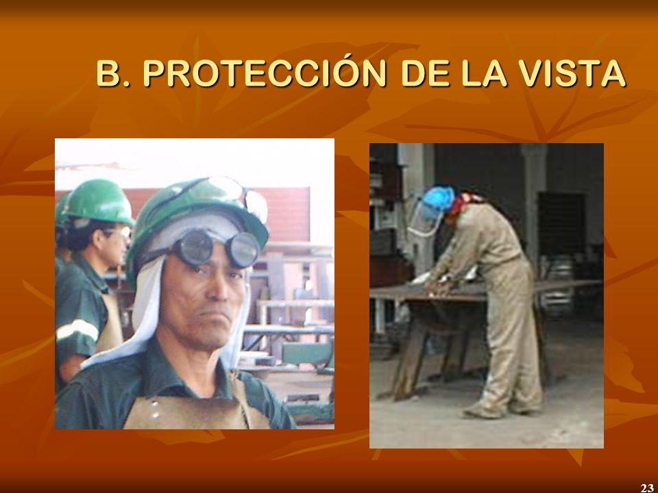 23 B. PROTECCIÓN DE LA VISTA