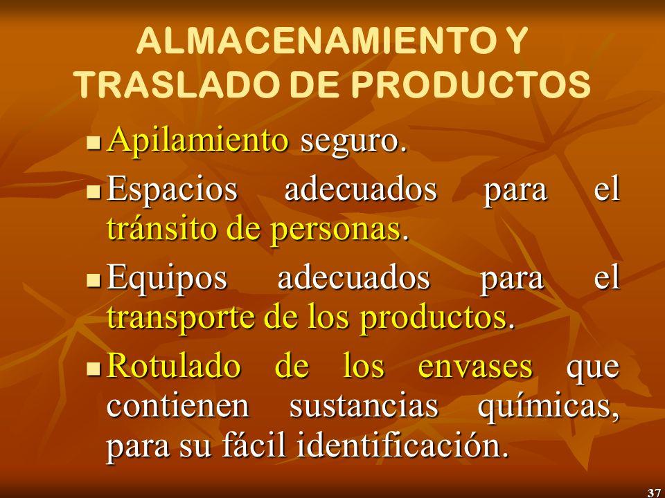 38 ALMACENAMIENTO Y TRASLADO DE PRODUCTOS