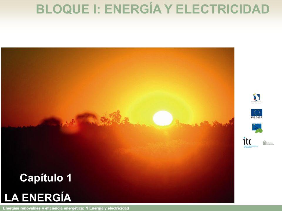 Energías renovables y eficiencia energética: 1 Energía y electricidad LA RED ELÉCTRICA EN CANARIAS Sin conexión por cable submarino a ningún continente ni entre las Islas.