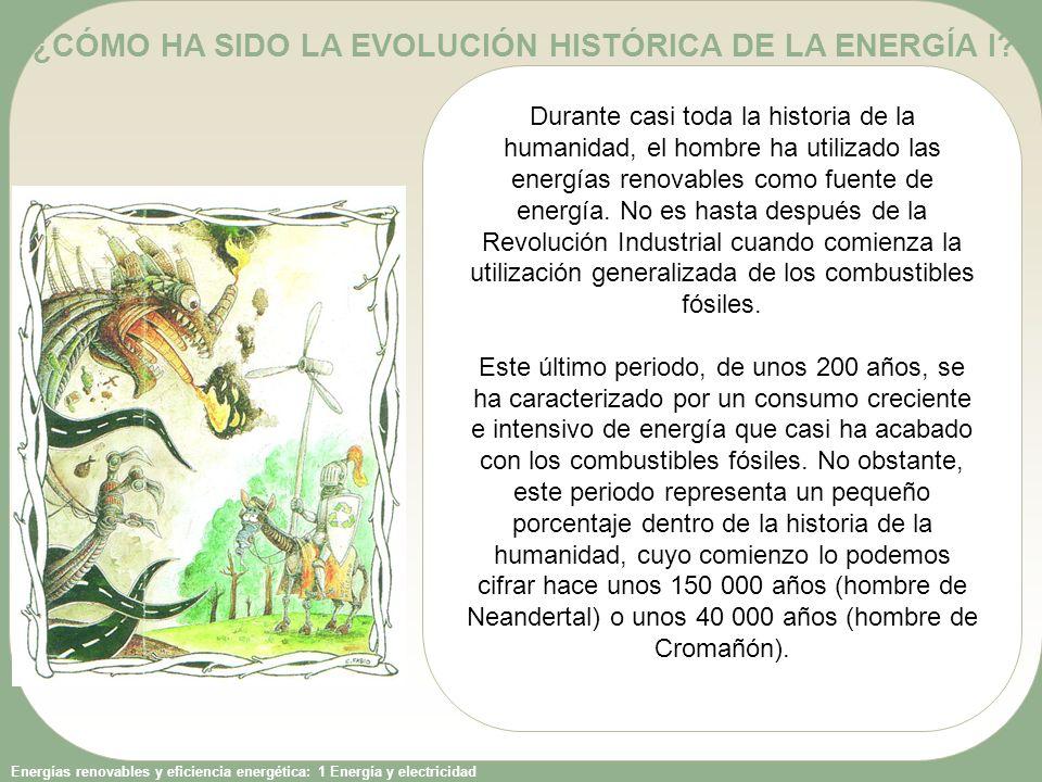 Energías renovables y eficiencia energética: 1 Energía y electricidad La fuerza humana y animal Hasta que el hombre aprendió a domesticar a animales de tiro, su única fuente de energía era su propia fuerza muscular.