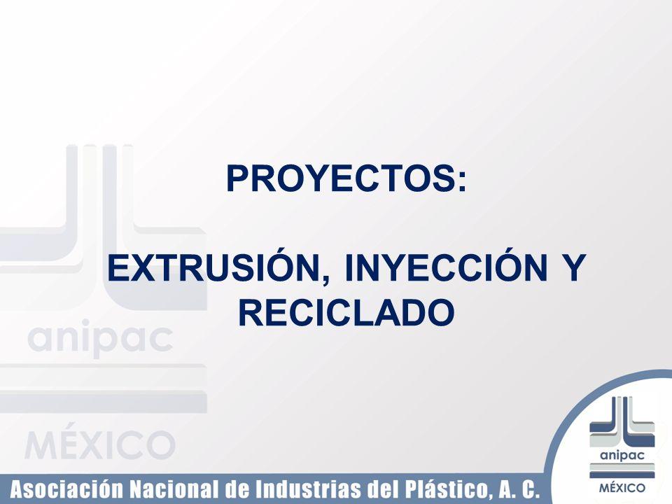 PROYECTOS: EXTRUSIÓN, INYECCIÓN Y RECICLADO