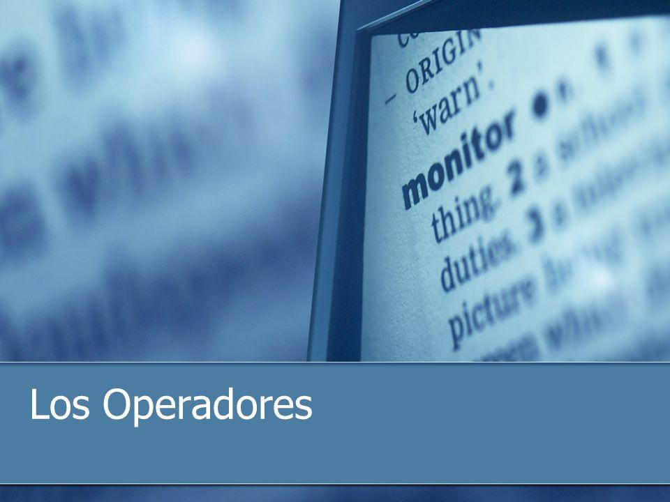 Los Operadores