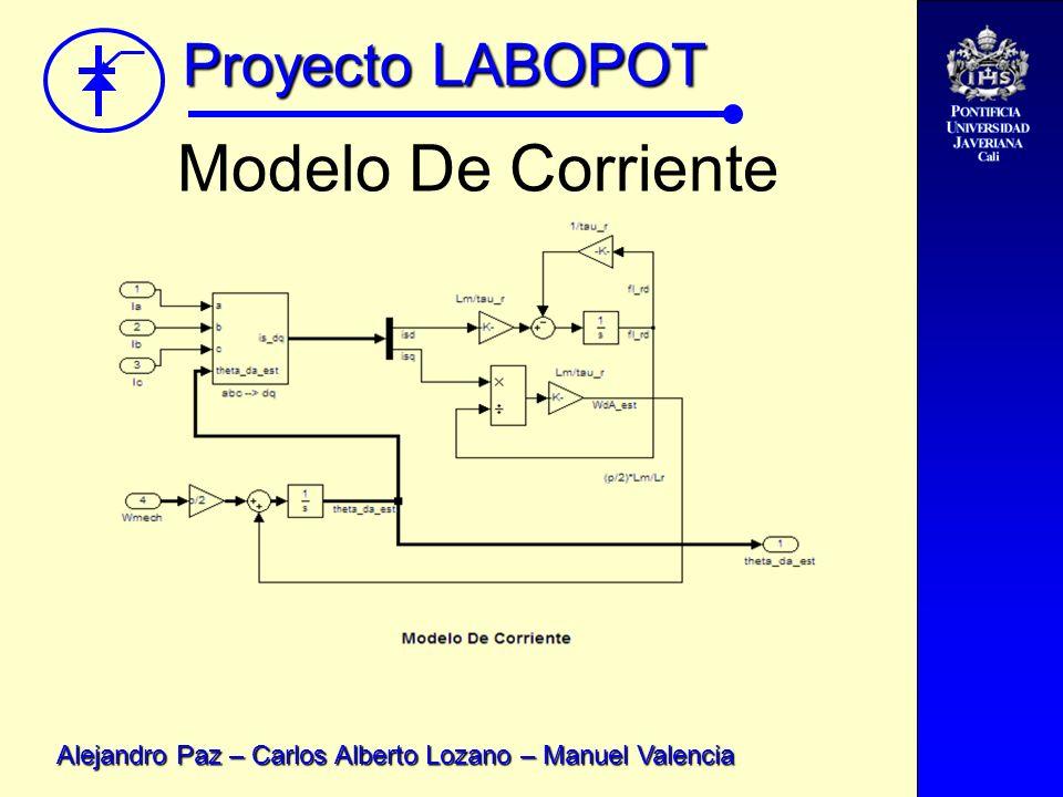 Proyecto LABOPOT Alejandro Paz – Carlos Alberto Lozano – Manuel Valencia Modelo De Corriente