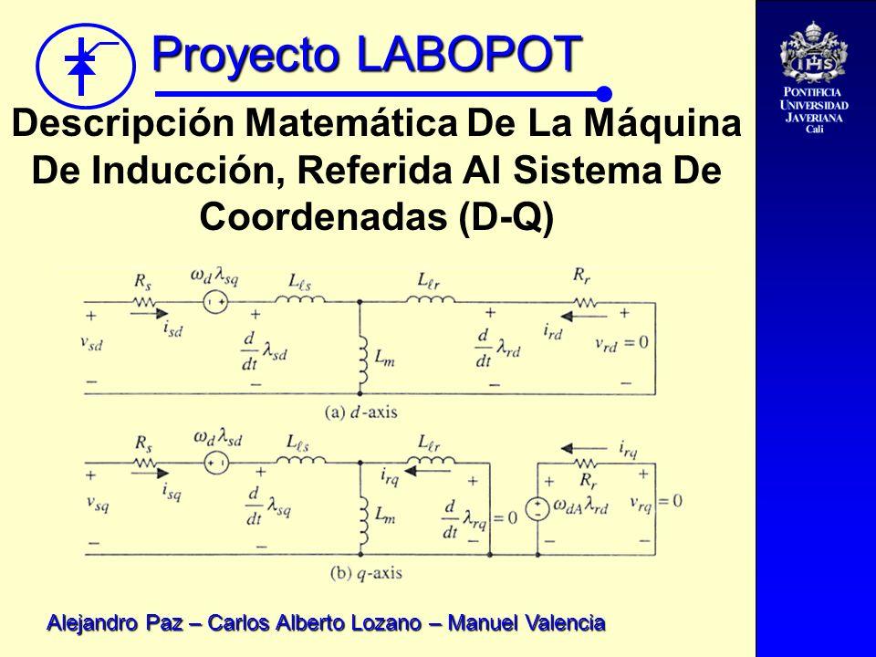 Proyecto LABOPOT Alejandro Paz – Carlos Alberto Lozano – Manuel Valencia Descripción Matemática De La Máquina De Inducción, Referida Al Sistema De Coo