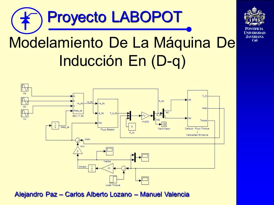 Proyecto LABOPOT Alejandro Paz – Carlos Alberto Lozano – Manuel Valencia Control De Velocidad En La Zona De Torque Constante.