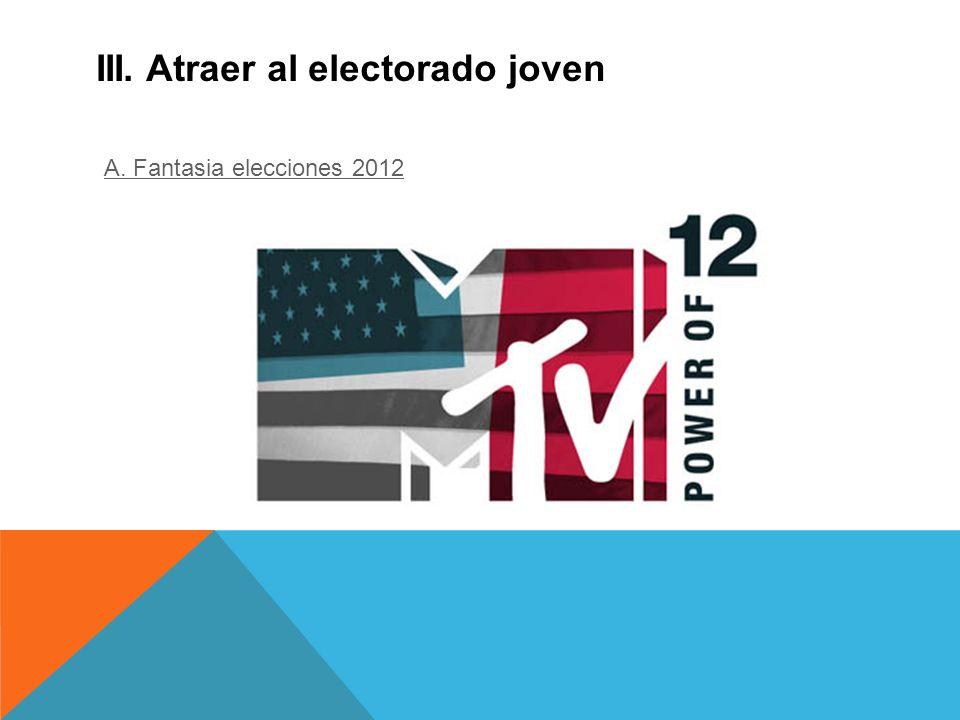 III. Atraer al electorado joven A. Fantasia elecciones 2012