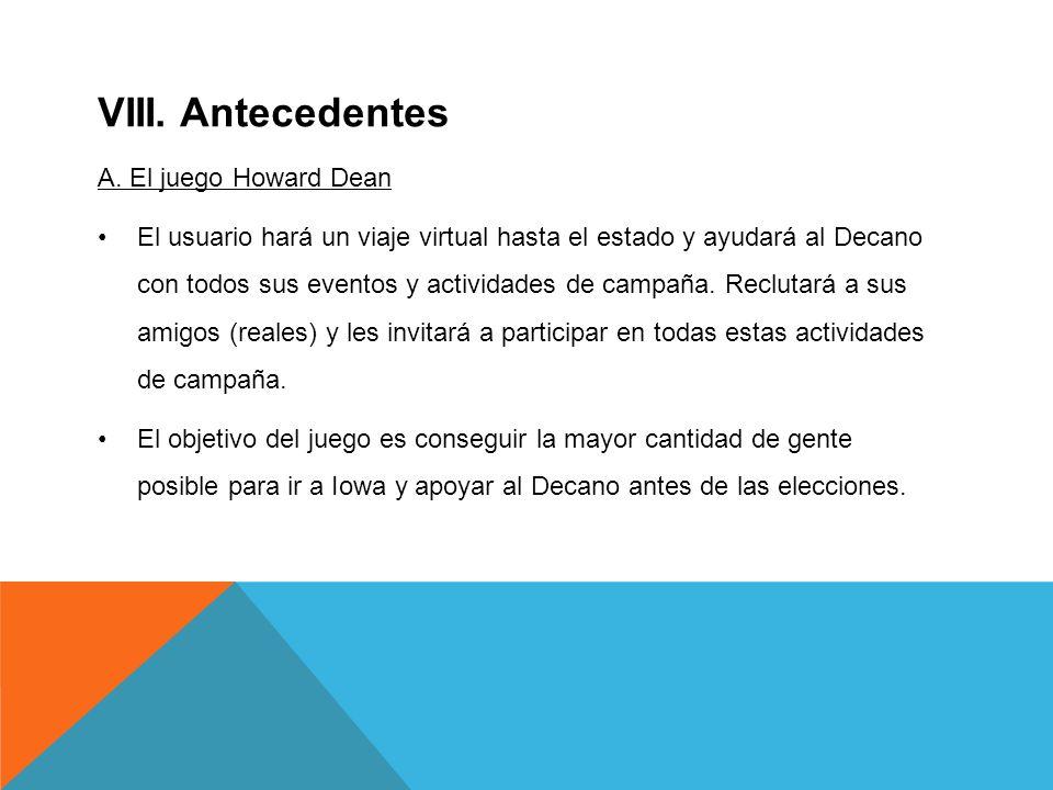 VIII. Antecedentes A.