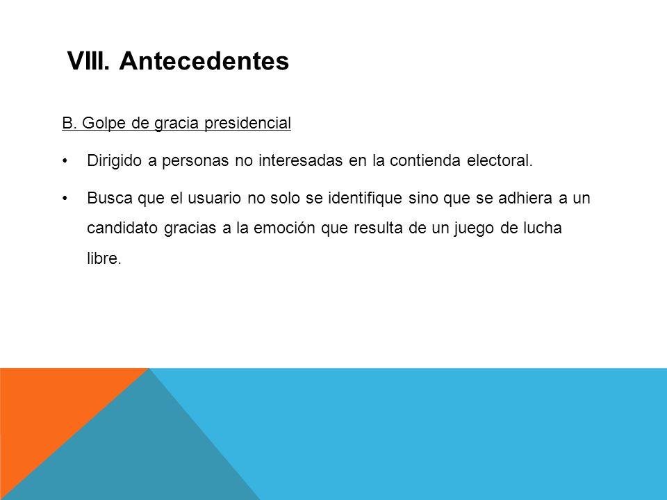 VIII. Antecedentes B.