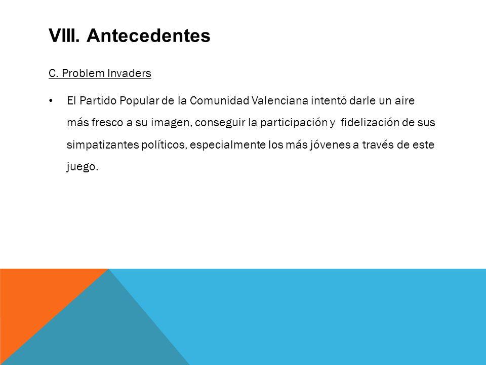 VIII. Antecedentes C.