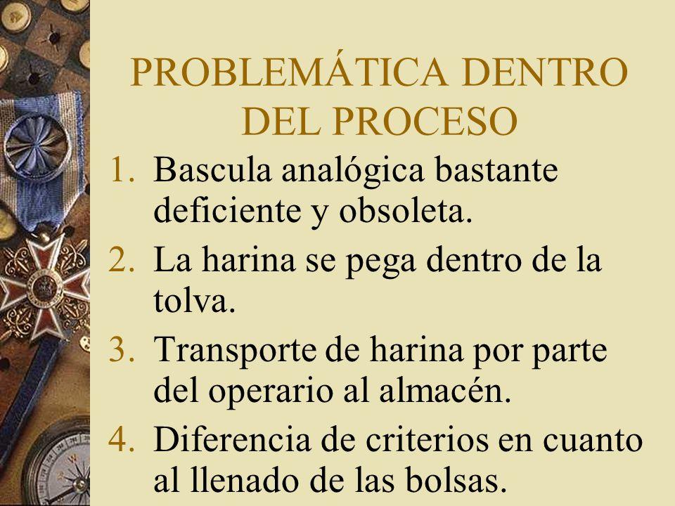 PROPUESTAS PARA SOLUCIONAR LOS PROBLEMAS 1.Instalar una bascula funcional.