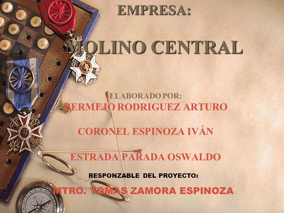 HISTORIA DEL MOLINO CENTRAL Esta empresa nace en el año 1971.
