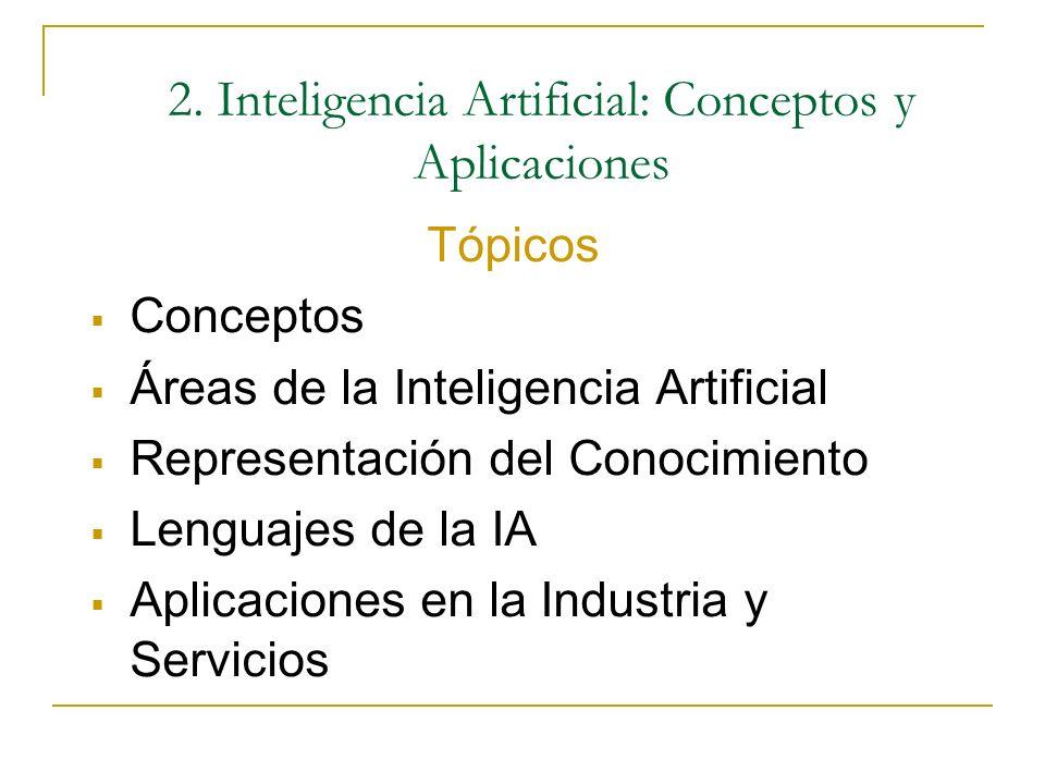 I. Inteligencia Artificial: Conceptos y Aplicaciones