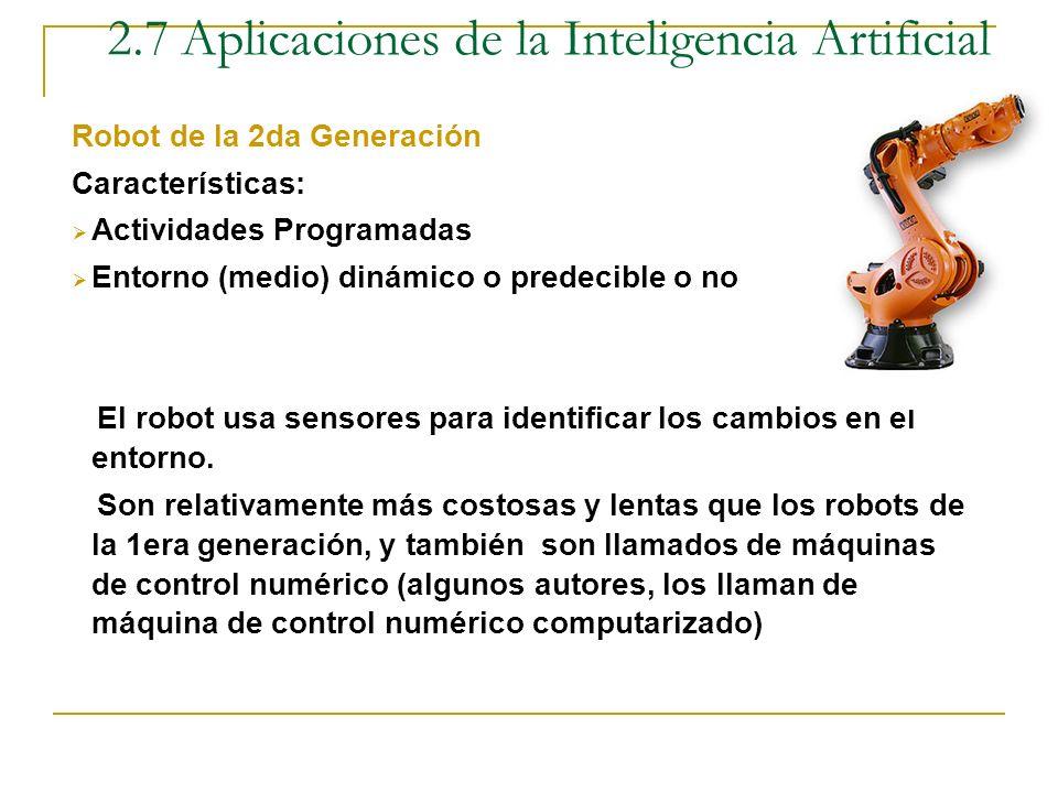 Robots Son máquinas que presenta autonomía en cuanto a las actividades que realizan Robot de la 1era Generación Características: Actividades Programad