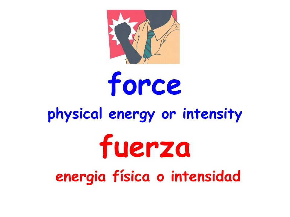 force physical energy or intensity fuerza energia física o intensidad