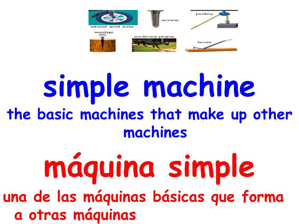 simple machine the basic machines that make up other machines máquina simple una de las máquinas básicas que forma a otras máquinas