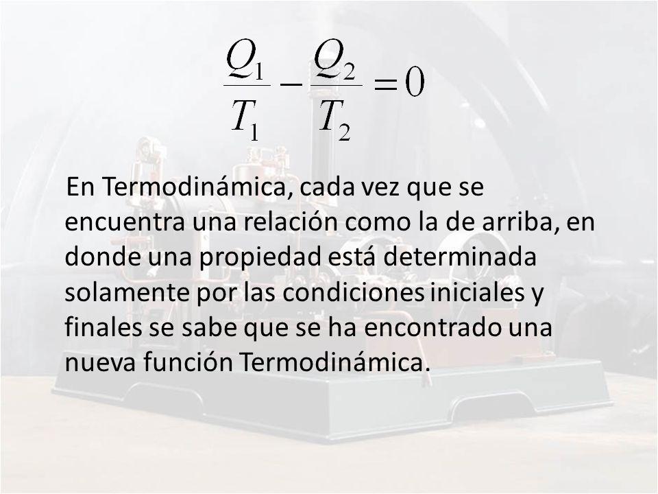 En Termodinámica, cada vez que se encuentra una relación como la de arriba, en donde una propiedad está determinada solamente por las condiciones inic