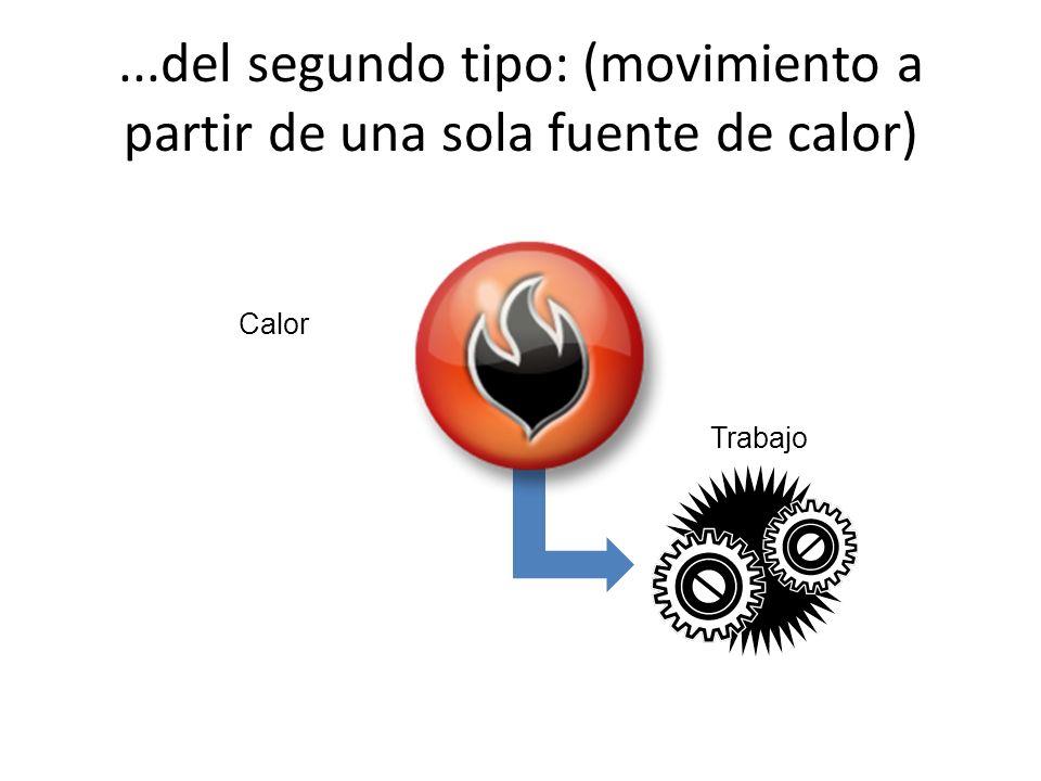 ...del segundo tipo: (movimiento a partir de una sola fuente de calor) Calor Trabajo