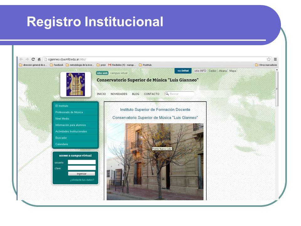 Registro Institucional