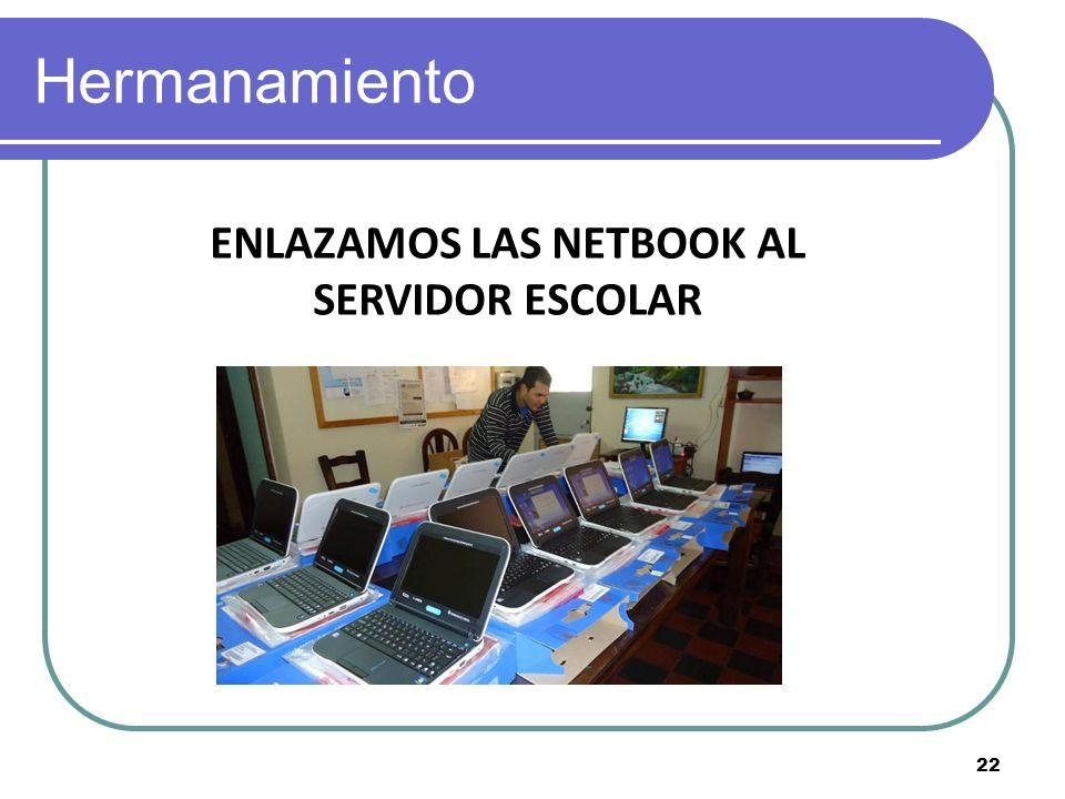 Hermanamiento ENLAZAMOS LAS NETBOOK AL SERVIDOR ESCOLAR 22