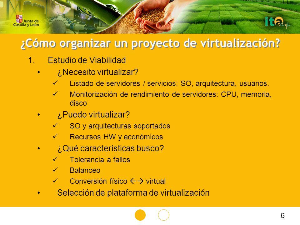 ¿Cómo organizar un proyecto de virtualización.¿Necesito virtualizar.