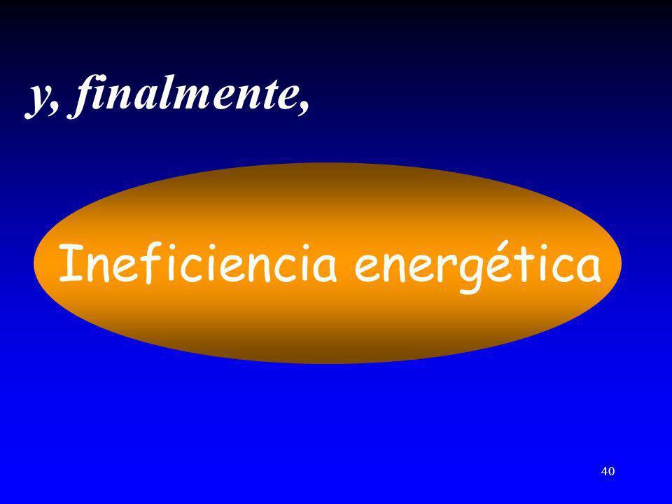 40 y, finalmente, Ineficiencia energética