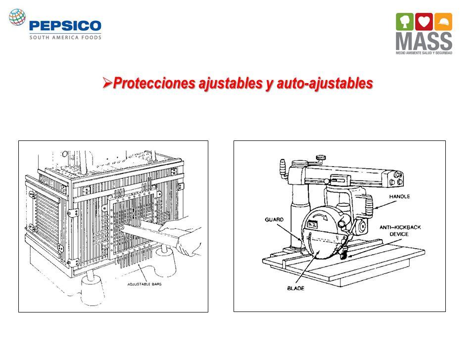 Protecciones ajustables y auto-ajustables Protecciones ajustables y auto-ajustables