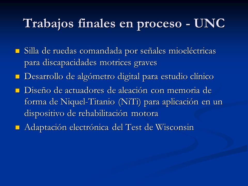 Trabajos finales en proceso - UNC Silla de ruedas comandada por señales mioeléctricas para discapacidades motrices graves Silla de ruedas comandada po