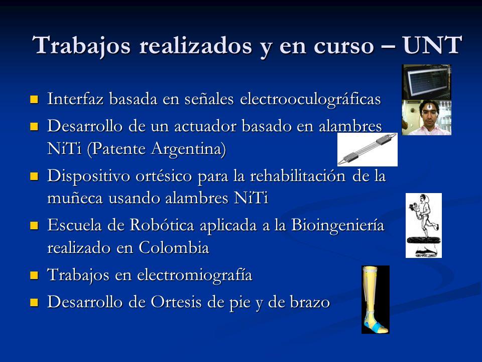 Trabajos realizados y en curso – UNT Interfaz basada en señales electrooculográficas Interfaz basada en señales electrooculográficas Desarrollo de un