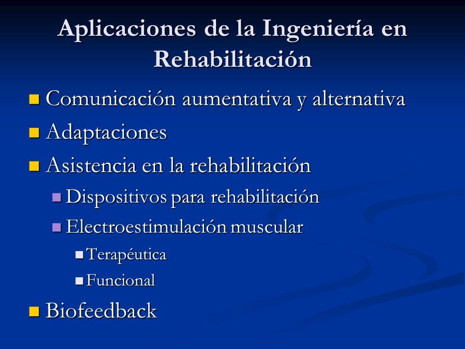 Aplicaciones de la Ingeniería en Rehabilitación Comunicación aumentativa y alternativa Comunicación aumentativa y alternativa Adaptaciones Adaptacione
