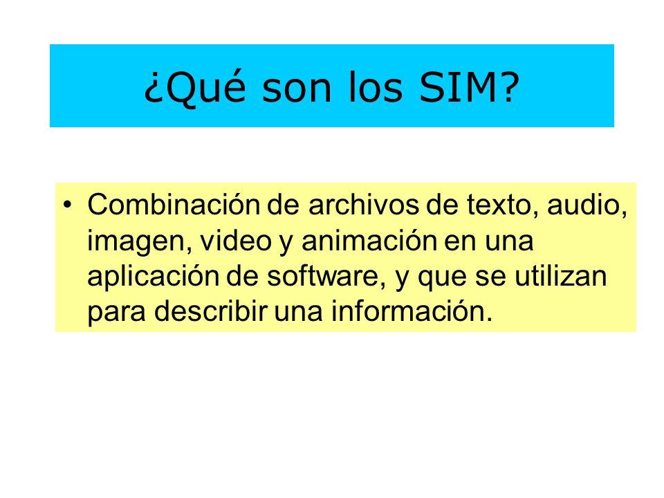 Combinación de archivos de texto, audio, imagen, video y animación en una aplicación de software, y que se utilizan para describir una información.