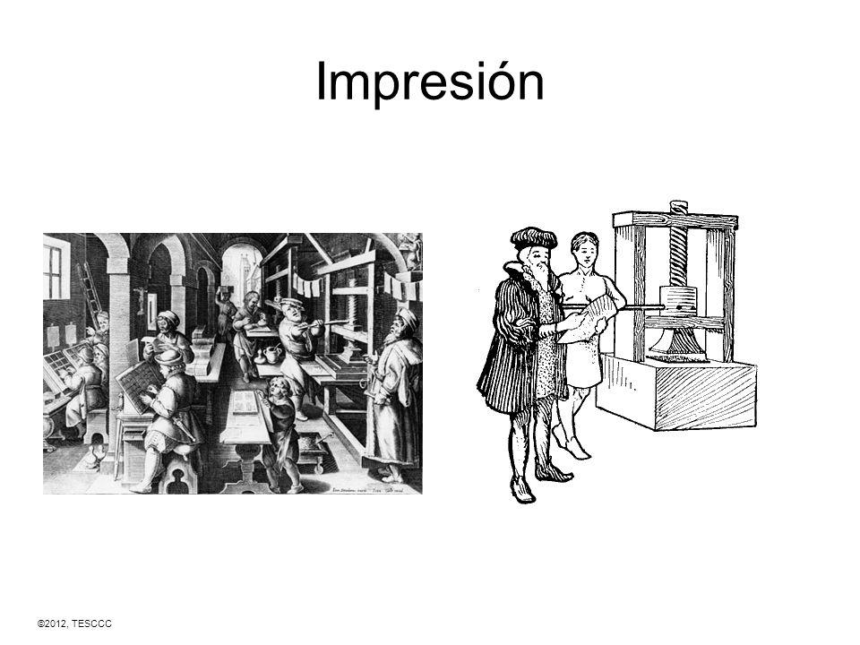 1400 CE Imprenta En 1439, Gutenberg inventó una máquina que usaba tipografía móvil.