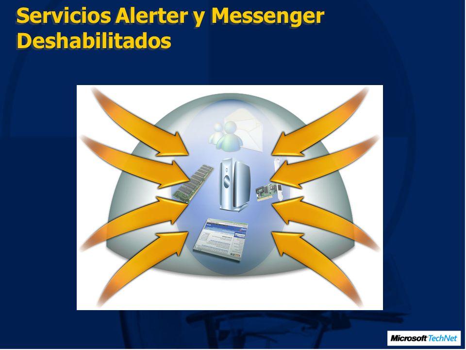 Servicios Alerter y Messenger Deshabilitados