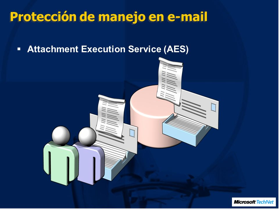 Protección de manejo en e-mail Attachment Execution Service (AES)
