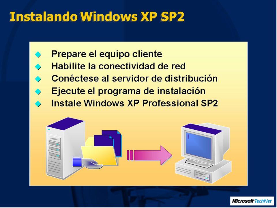 Demo Deploy Windows XP SP2 En esta demo se instalará Windows XP SP2 desde CD- Rom.
