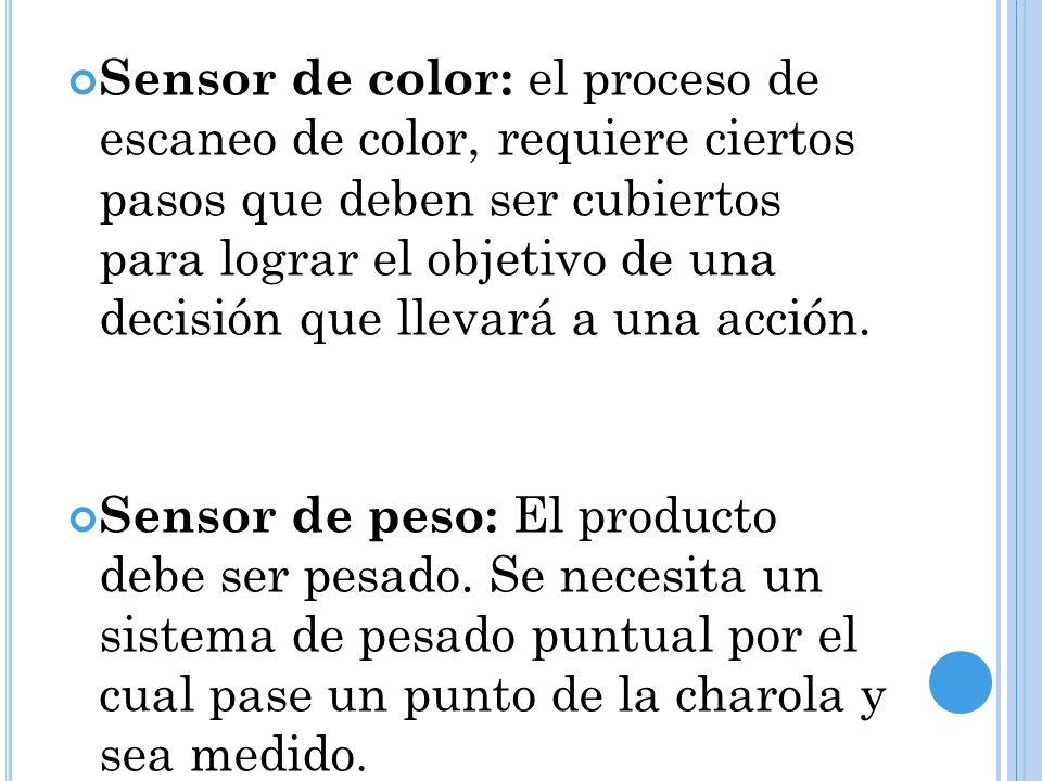 Sensor de color: el proceso de escaneo de color, requiere ciertos pasos que deben ser cubiertos para lograr el objetivo de una decisión que llevará a una acción.