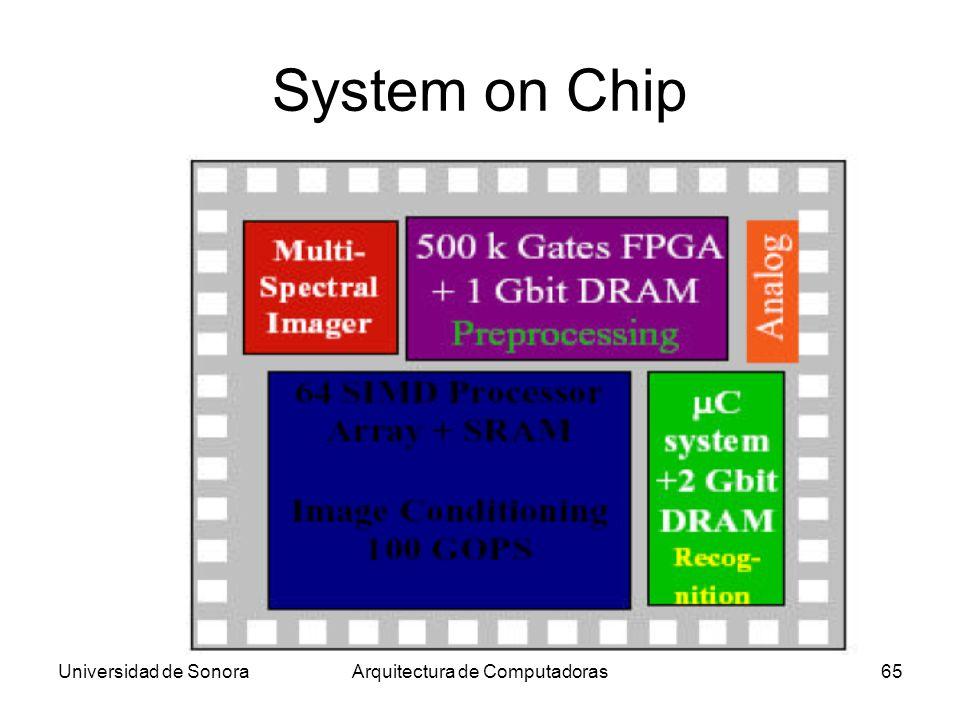 Universidad de SonoraArquitectura de Computadoras65 System on Chip