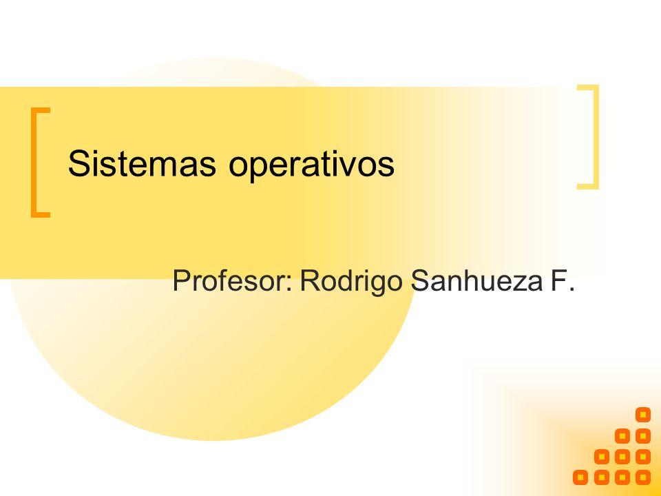 Sistemas operativos Profesor: Rodrigo Sanhueza F.